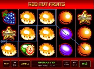 red hot fruits automat wygrane
