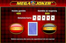 Mega Joker funkcja gamble