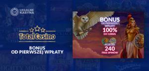 total casino bonus od depozytu