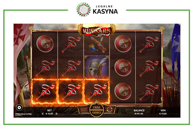 Husaria - wygrana na slocie