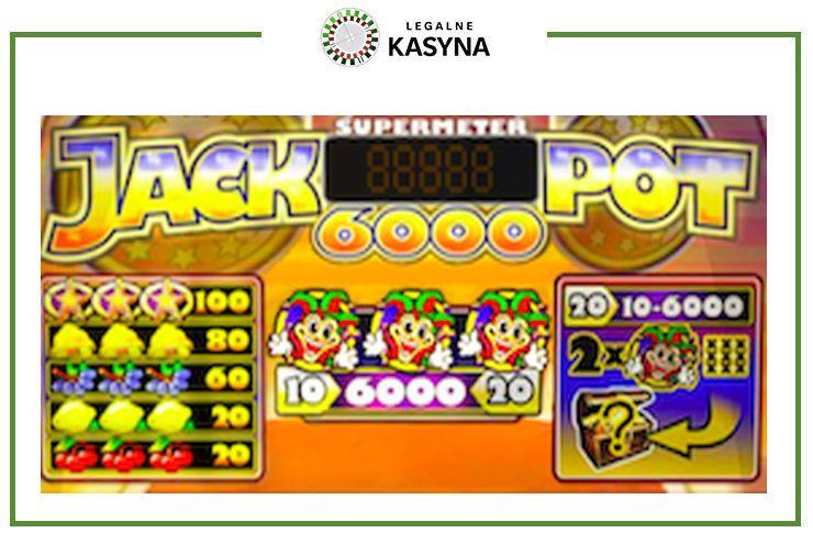 Jackpot 6000 - tabela wypłat