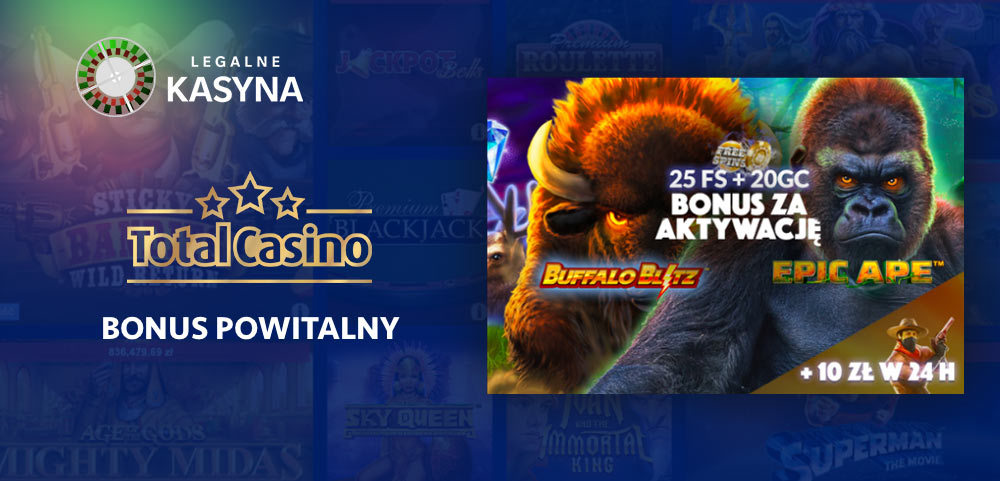 Total Casino bonus powitalny