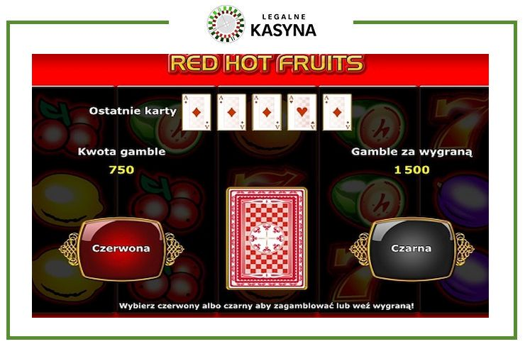 Red Hot Fruits runda gamble