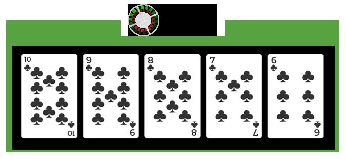poker strit w kolorze